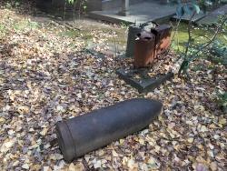 麻布台 西久保八幡神社 大砲の弾