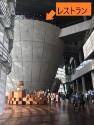 国立新美術館 ポール・ボキューズ 内部 2つの逆円錐