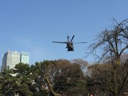 国立新美術館 ポール・ボキューズ 米軍ヘリコプターが飛んでいた