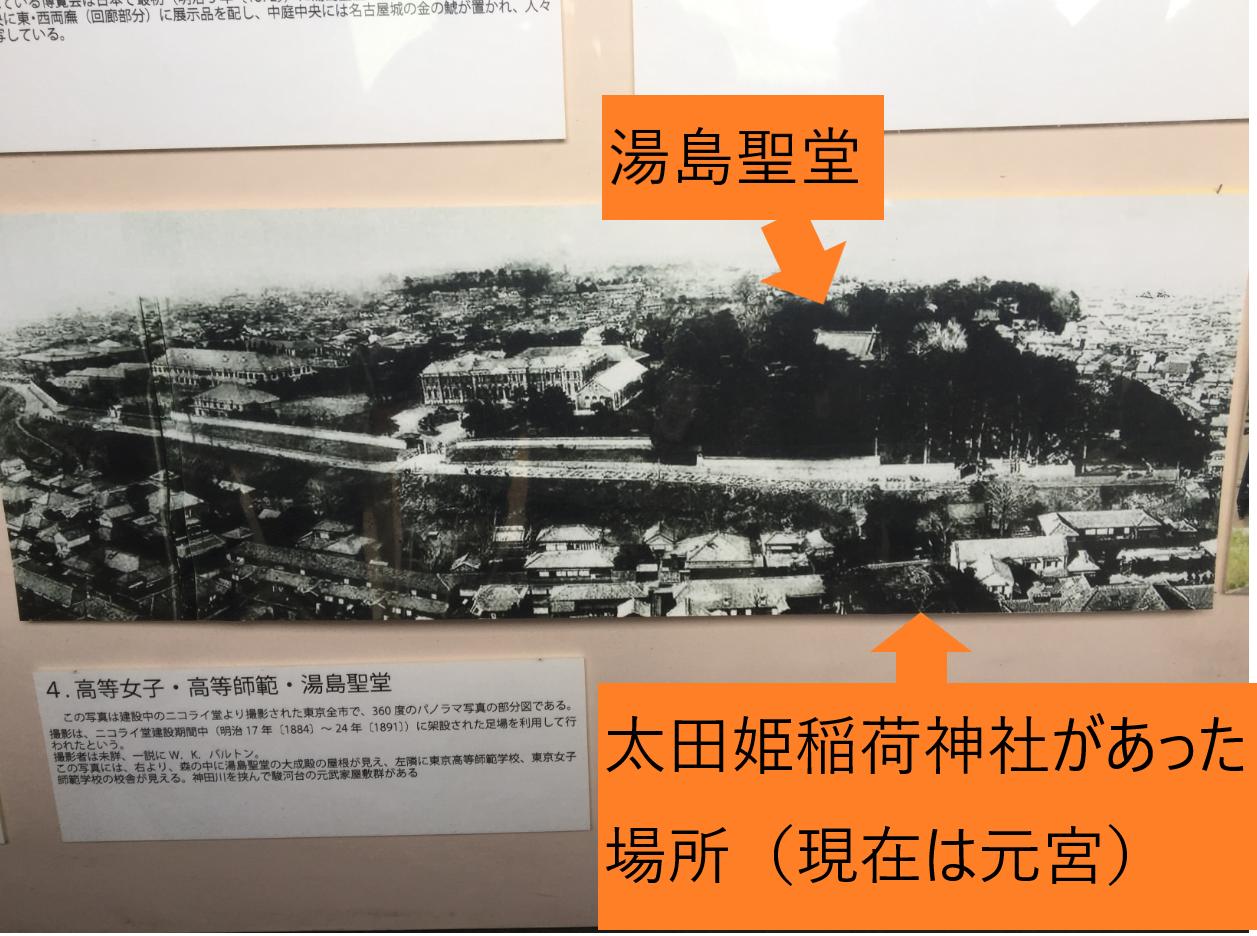 明治時代の湯島聖堂と太田姫稲荷神社 神田散策記事
