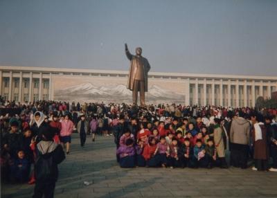 平壌にて。新年を祝う人々。1992年