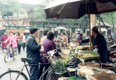 町の野菜市場 1993 四川成都