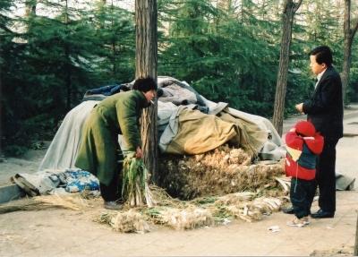 近郊の農村から運んで、路上で商売 1992 北京