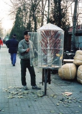 ホコリが付かないよう、工夫している。なかなかグッドデザイン 1992 北京