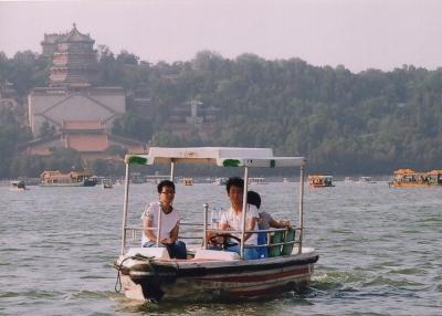 昆明湖に遊ぶ。 2015年 頤和園 北京