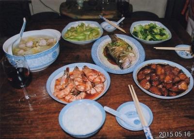 M夫人による中華ディナー。 2015年
