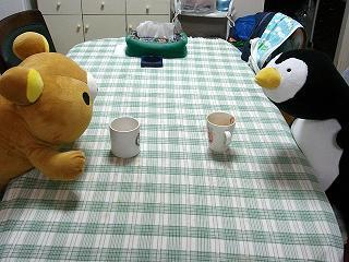 クマジとペンジお茶飲み1