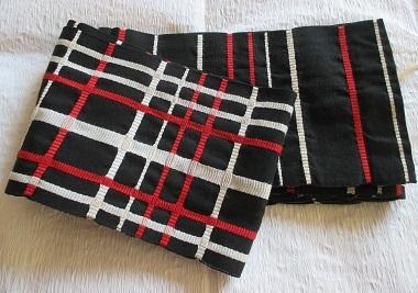 木綿の半幅帯リバーシブル