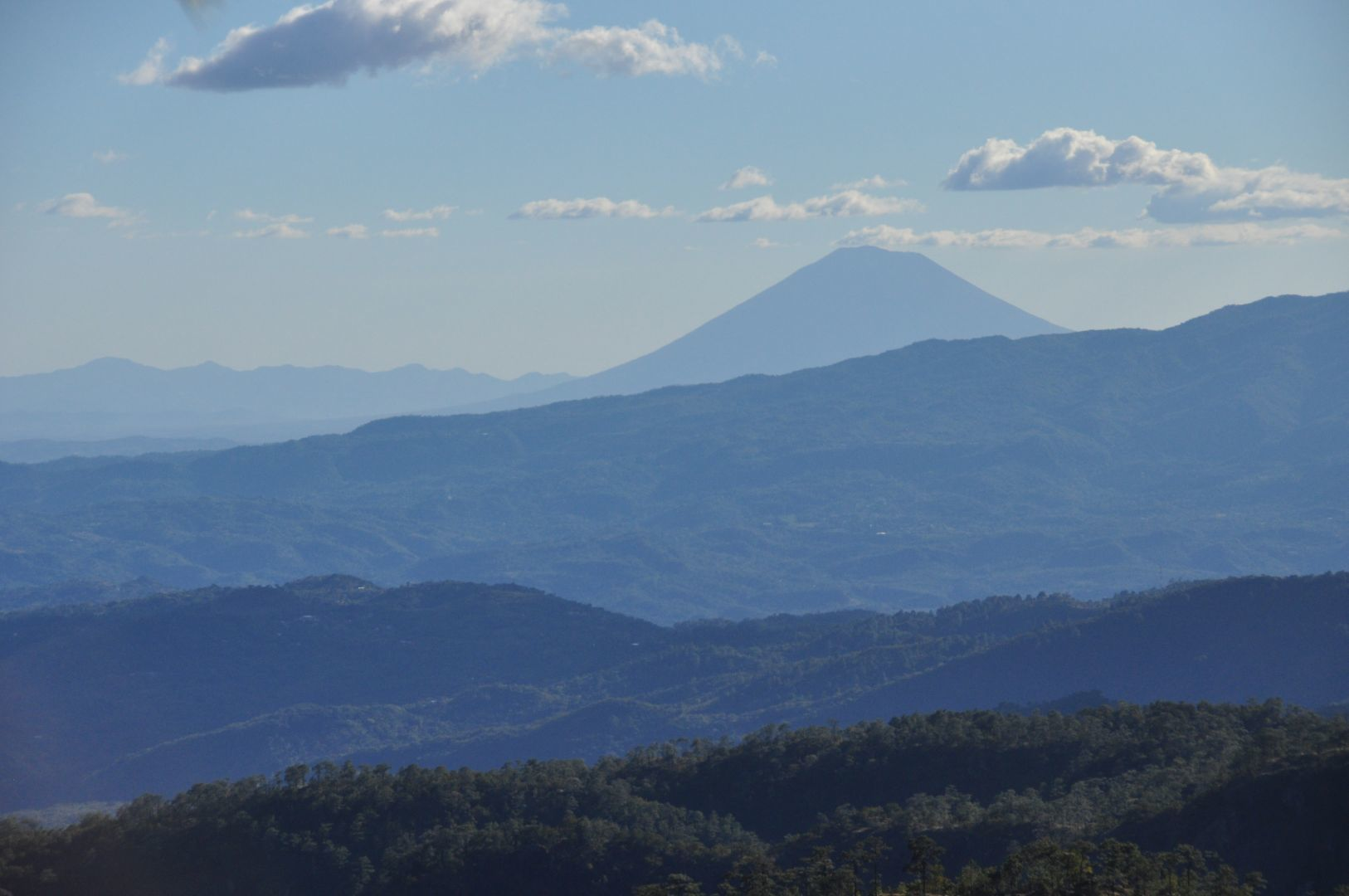 la vista del volcan
