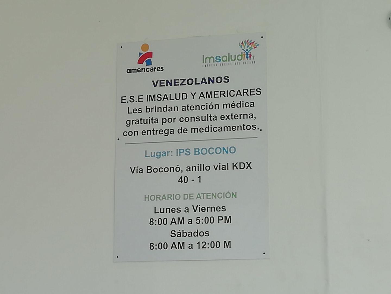 aviso en un hospital público