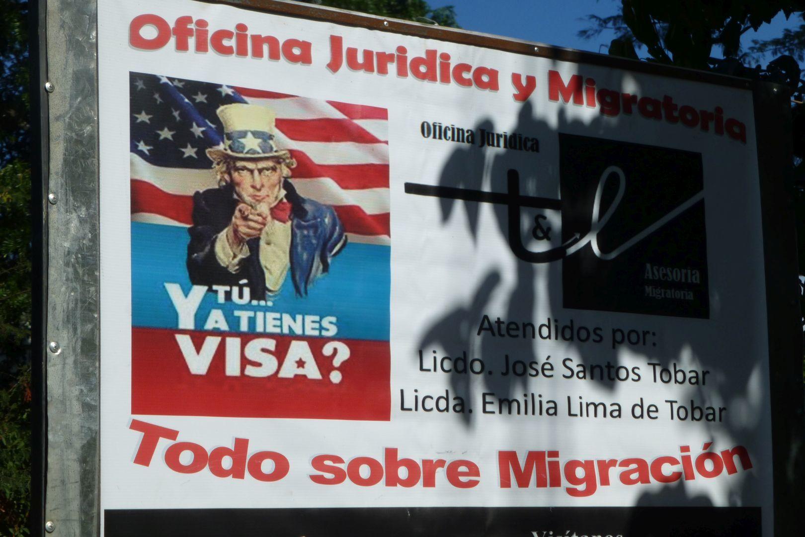 aviso en la migración