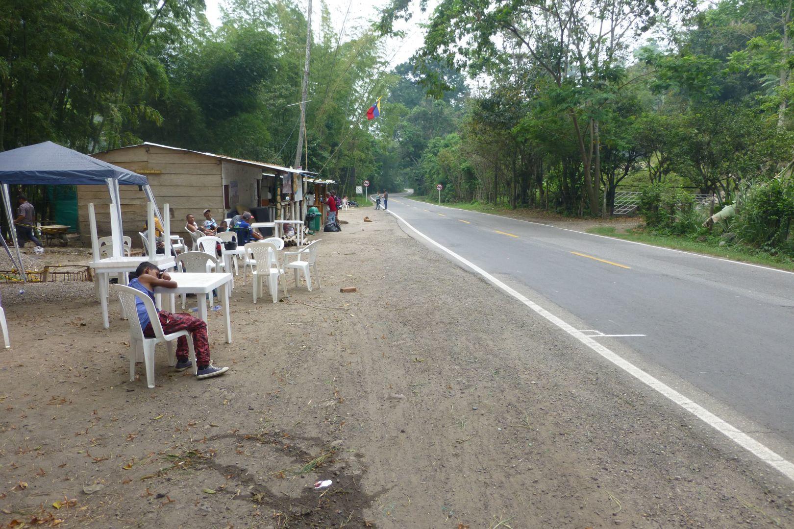 área de descanso para refugiados