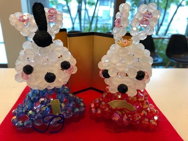 ビーズウサギの雛祭り
