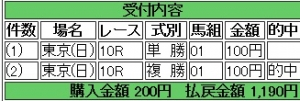 東京10R1