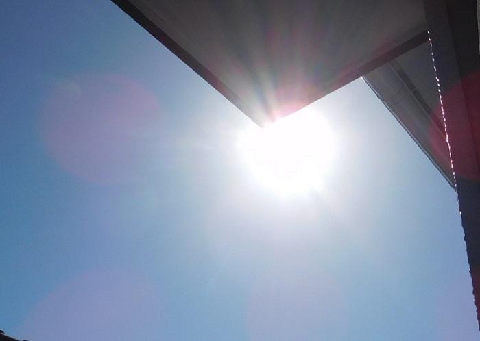 秋の空と太陽3010