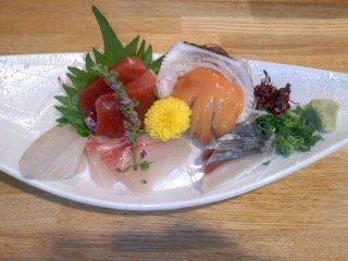 割烹田中 カンパチ ヒラメ 鯖 マグロ 赤貝