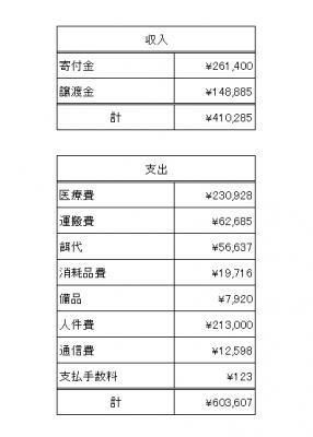 2019年2月会計報告1
