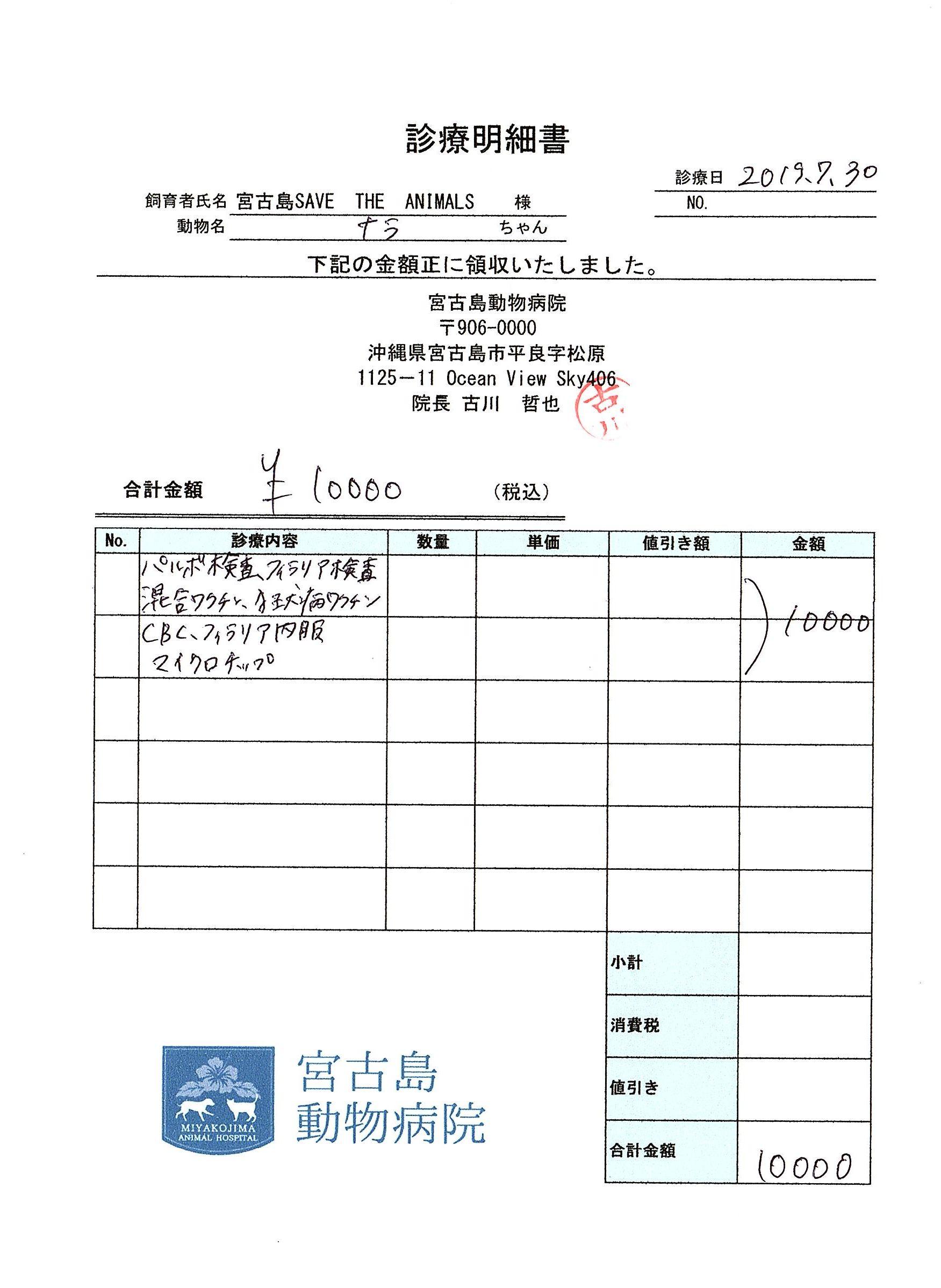 ナラ医療明細190730-2