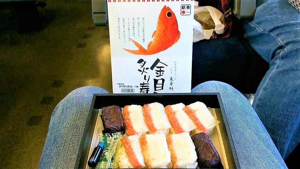 金目鯛の寿司