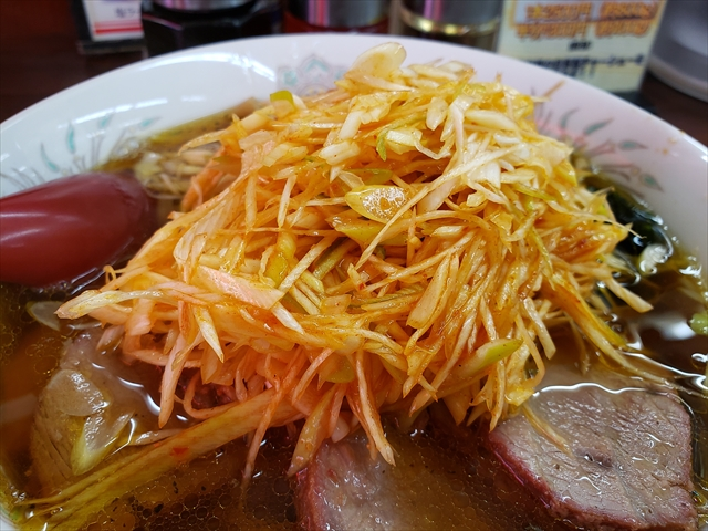 20190819_113451_R たっぷりの辛味葱は細かく切られているので葱の風味と辛味、辣油との絡みもいい