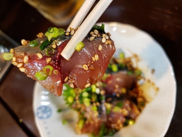 20190813_170521_R 九州の甘い醤油が口にあう。すらない胡麻の食感と噛んだ瞬間広がる油がいい