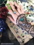 ヘリオトロープ指輪:宝石