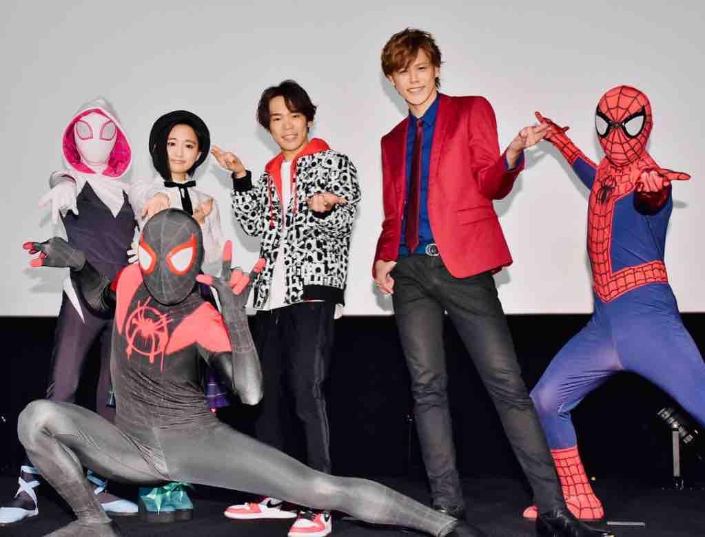 映画『スパイダーマンスパイダーバース』公開記念舞台挨拶に