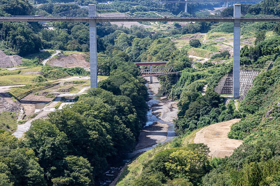 190910湖底に沈む吾妻線鉄橋