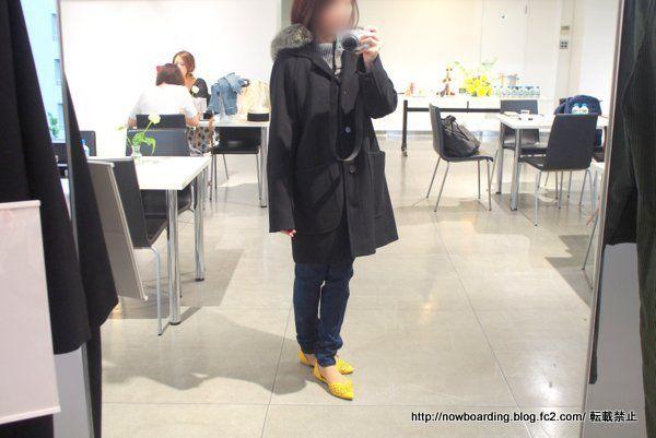 フード付ウールコート 着用画像 コトニエブログ