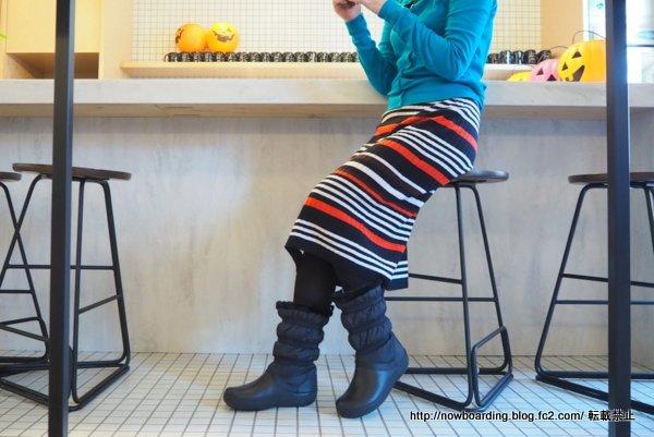 クロックス クロックバンド ウィンター ブーツ 履いた感想 着用画像