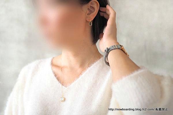 ノンホールピアス naotjewelry Cut Frame Glass Pierces 感想ブログ