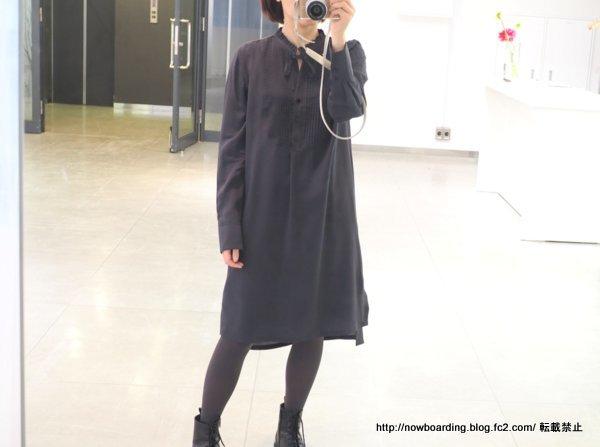 コントワーデコトニエ シルクフリルリボン長袖ドレス 2019春夏 ブログ