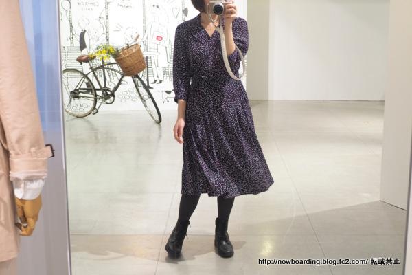 DOTプリントドレス コントワーデコトニエ 着用画像 ブログ