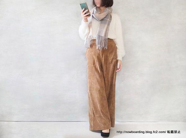 Happy急便 コーデュロイワイドパンツ 30代プチプラファッション