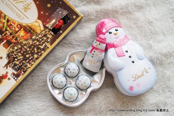 スノーマン ギフト缶 リンツ クリスマス限定