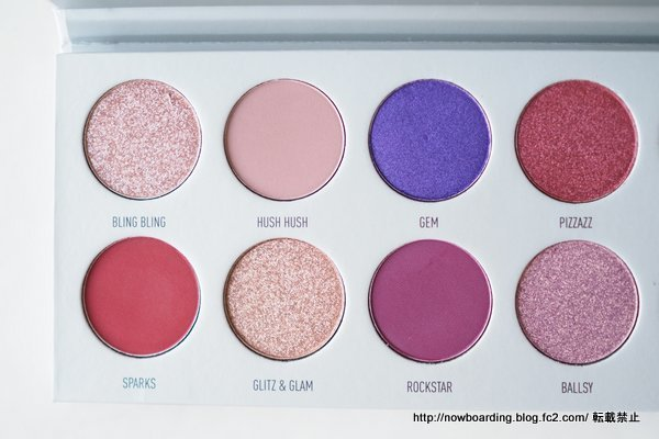Morphe X Jaclyn Hill Bling Boss Eye Shadow Palette パレットのスウォッチ