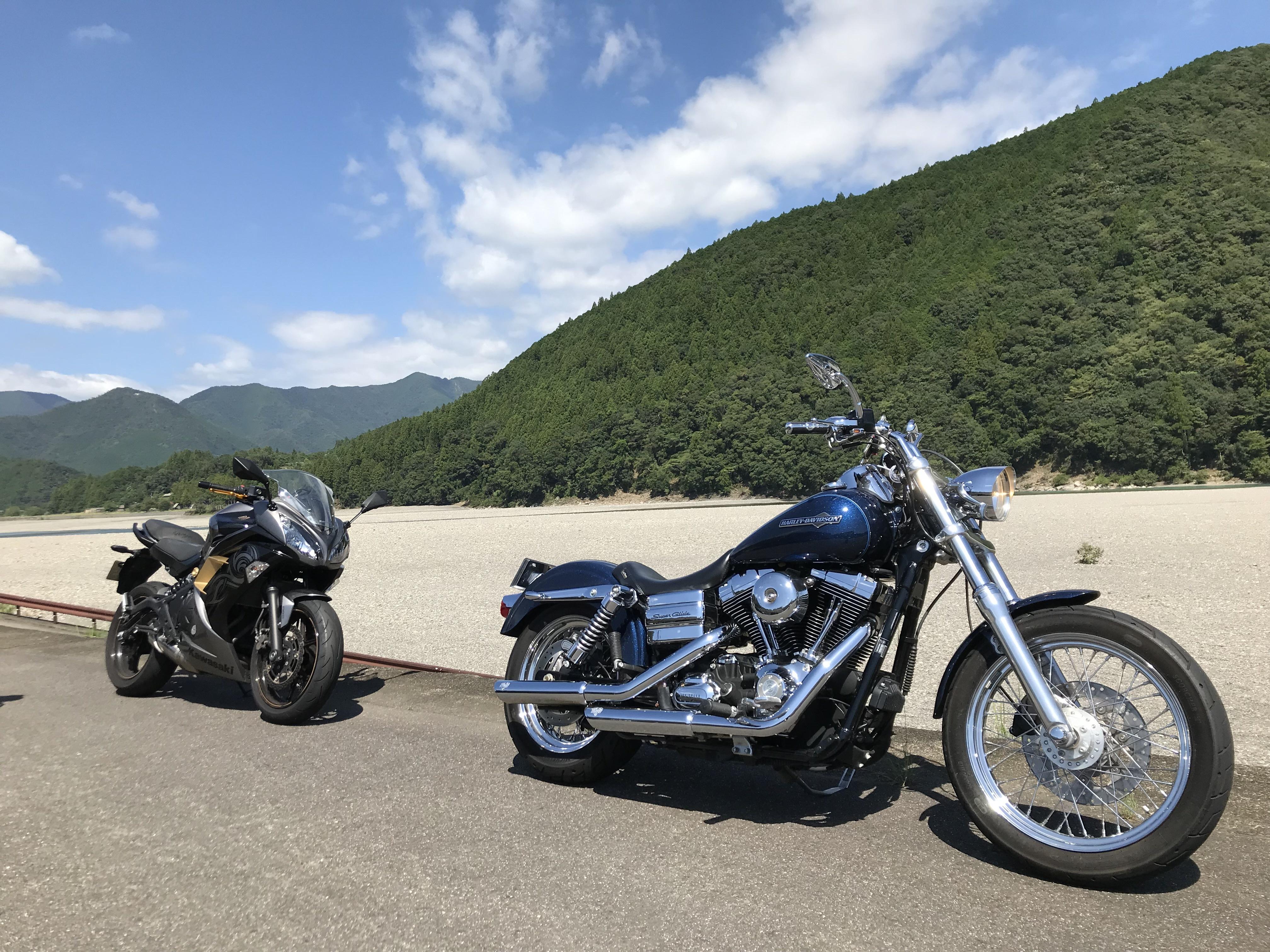 ぴーきち&ダイナ ハーレー で行く 十津川村 ツーリング 熊野