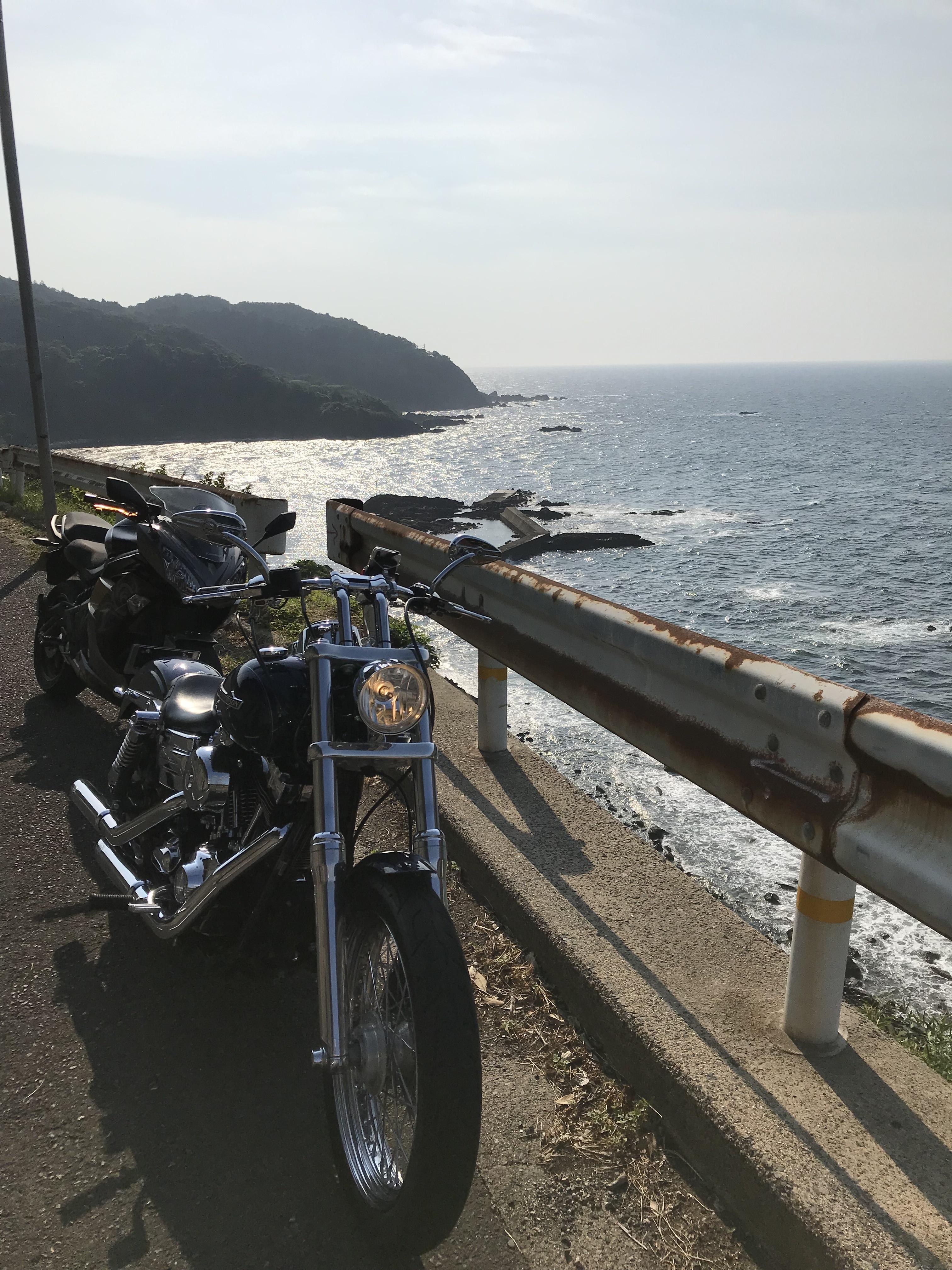 ハーレー 出石ツーリング 網野町 リアス式海岸