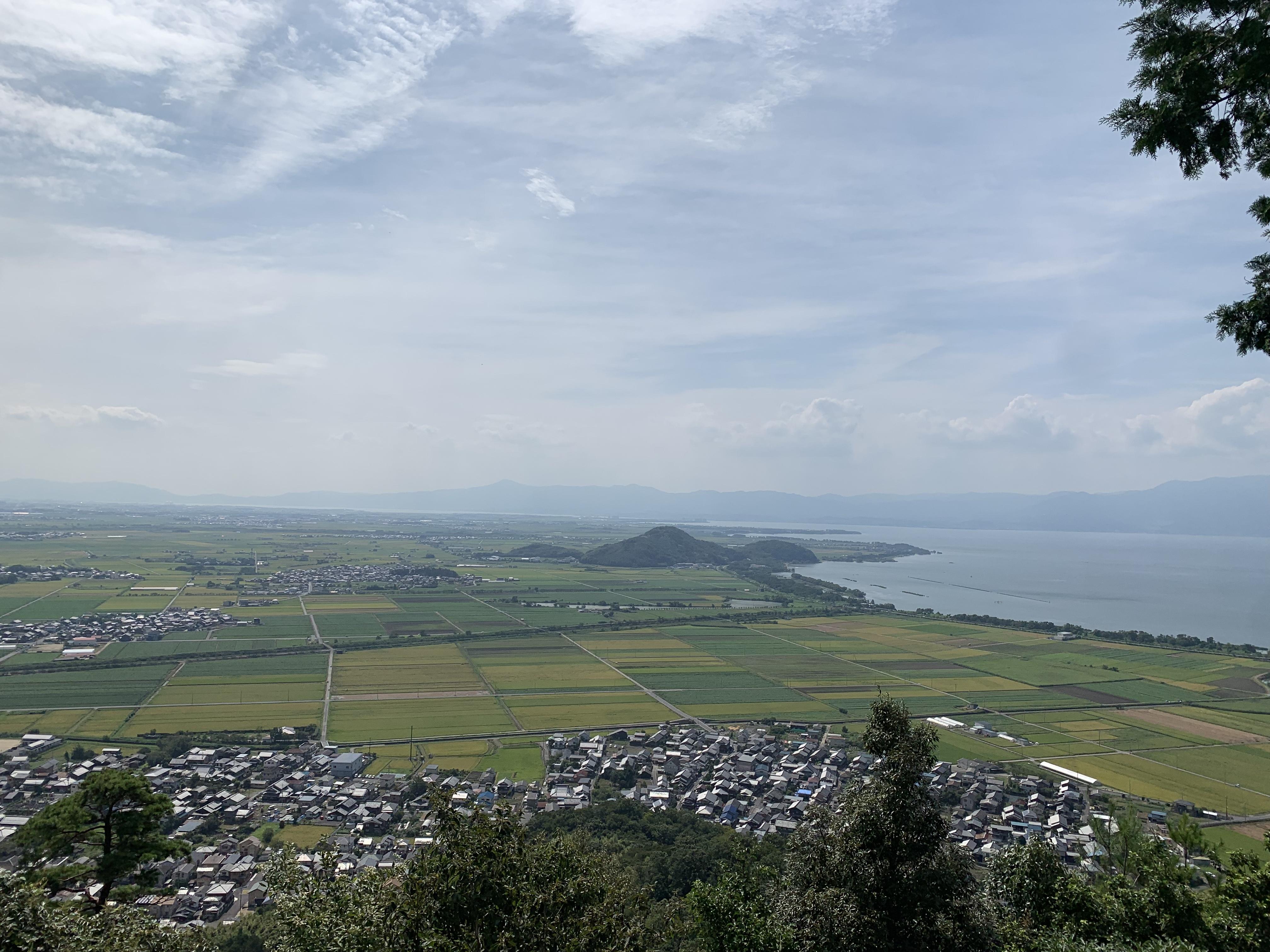 ハーレーダイナとカワサキで行く近江八幡ツーリング 八幡山 絶景ポイント