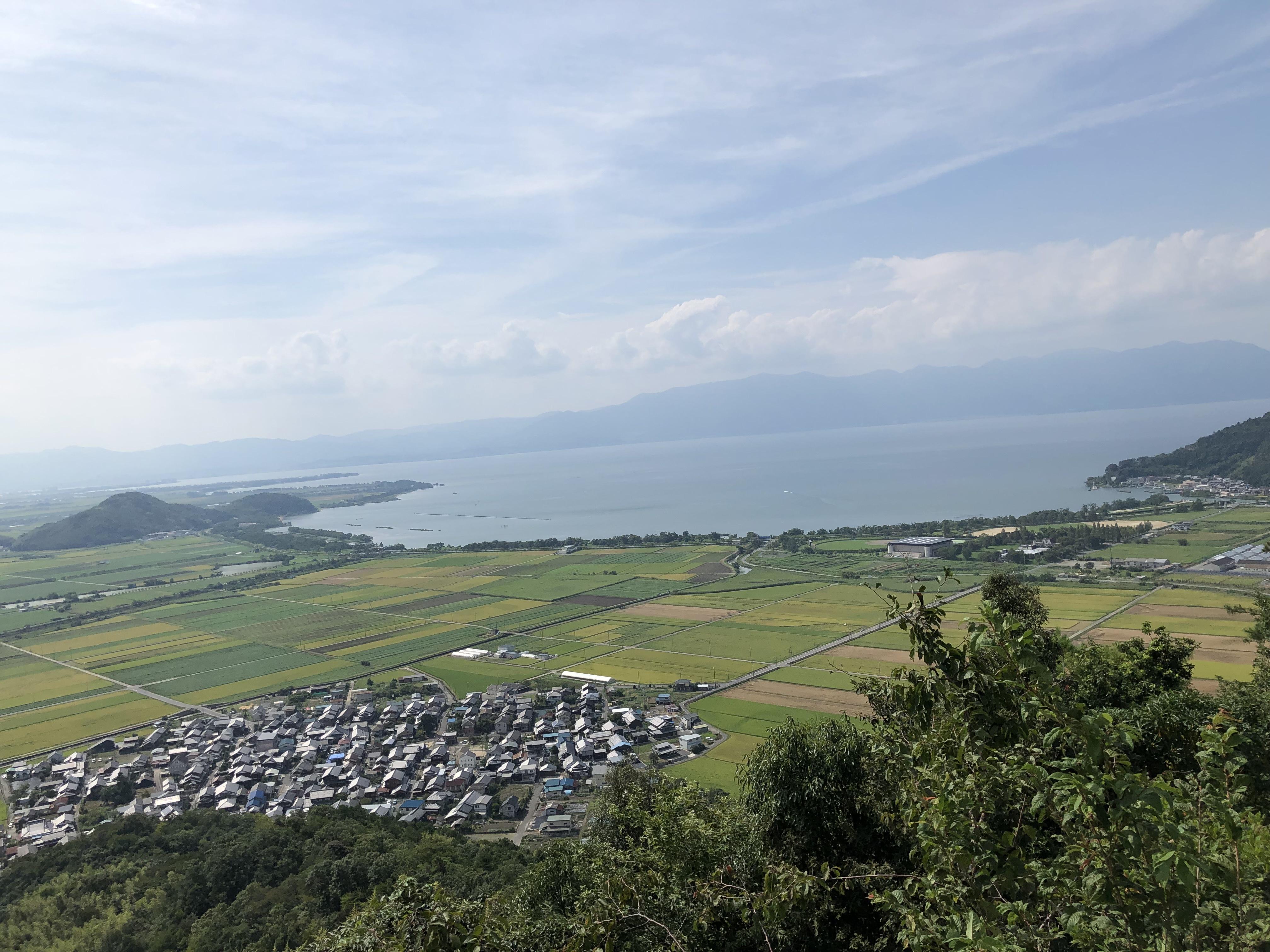 ハーレーダイナとカワサキで行く近江八幡ツーリング 八幡山絶景ポイント