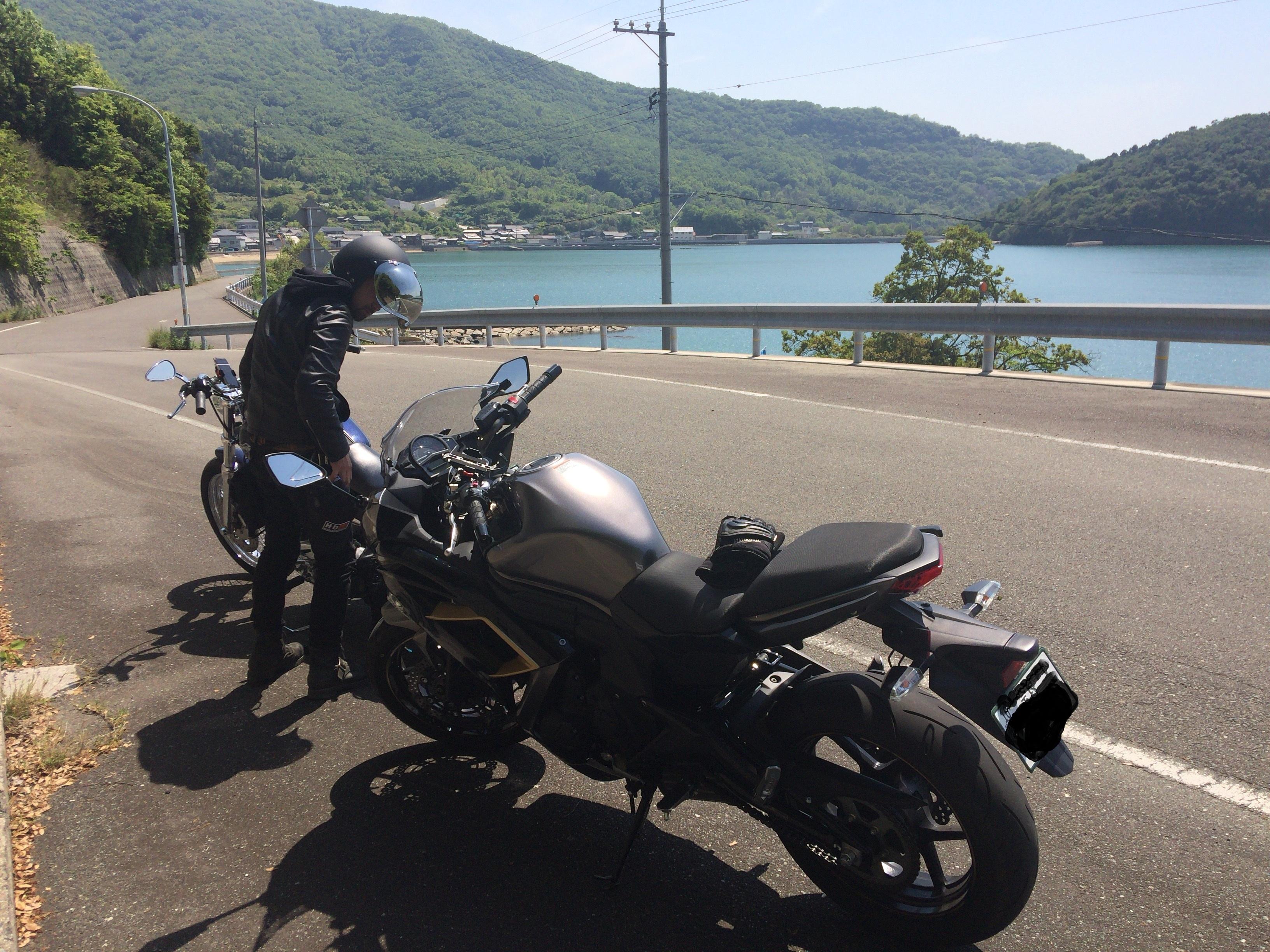 小豆島 ツーリング 海辺