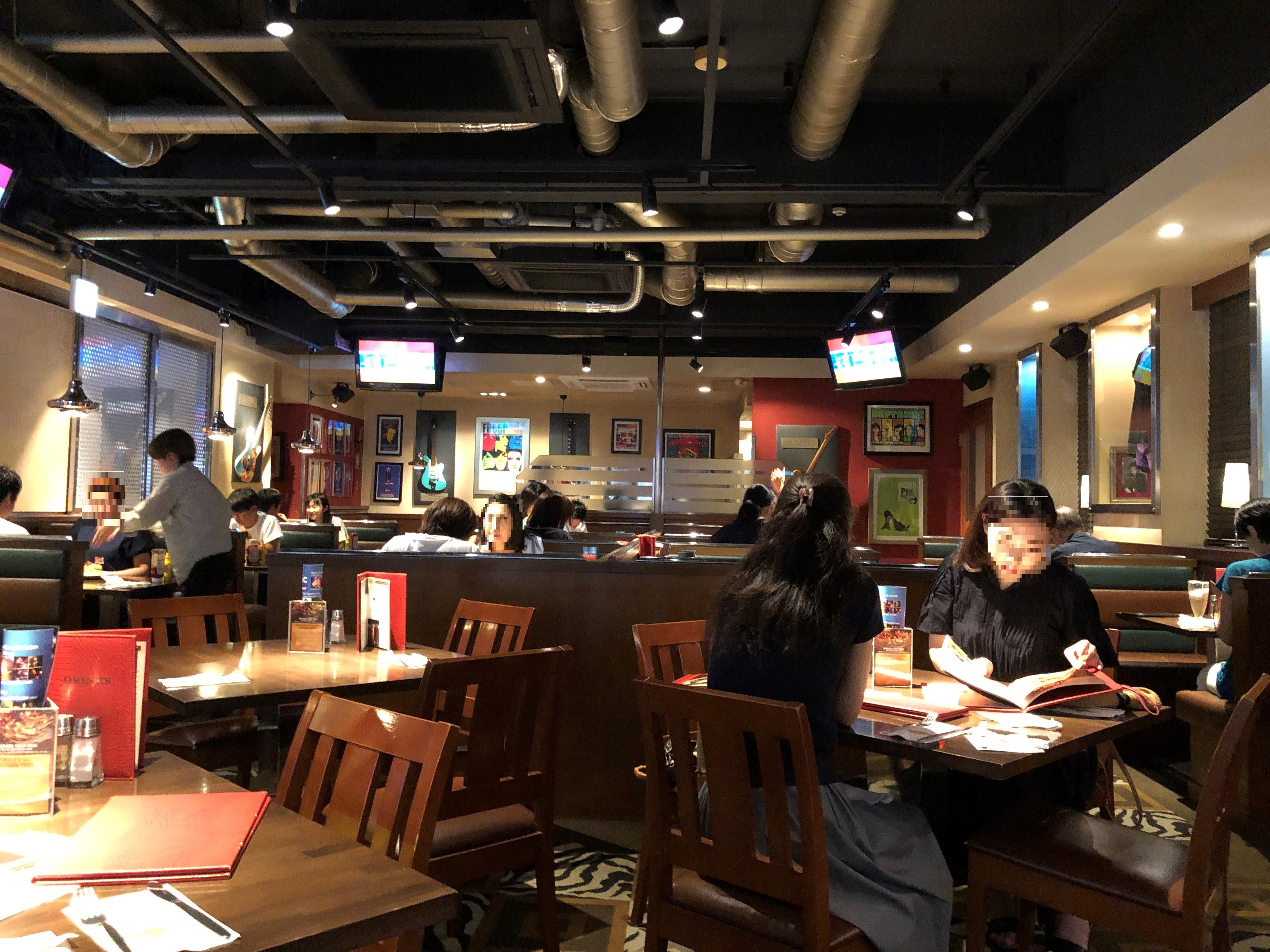 ハードロックカフェ大阪 店内