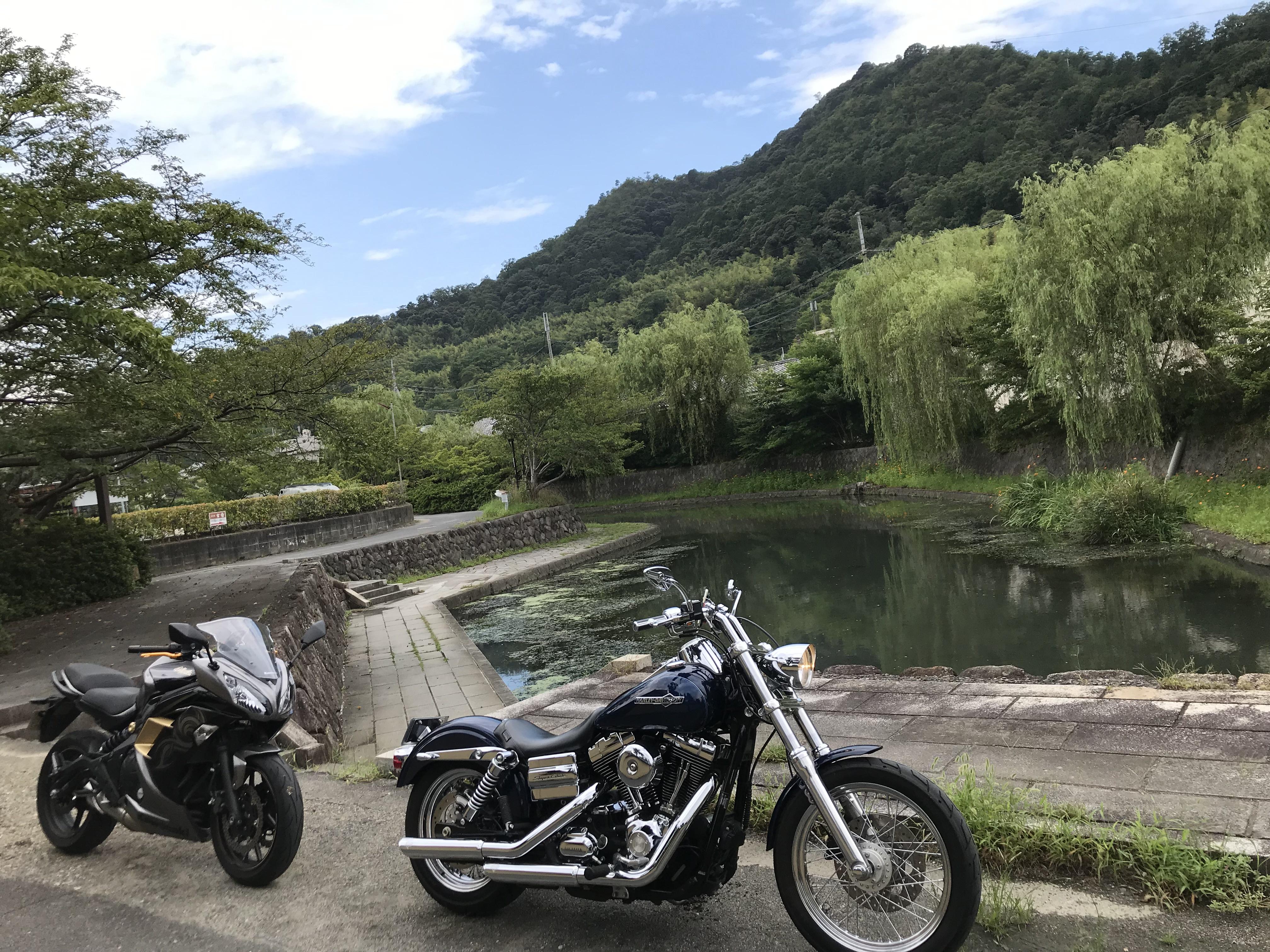 ハーレーとカワサキで行く近江八幡ツーリング 八幡堀 船着場