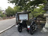 ハーレーとカワサキで行く近江八幡ツーリング 八幡堀
