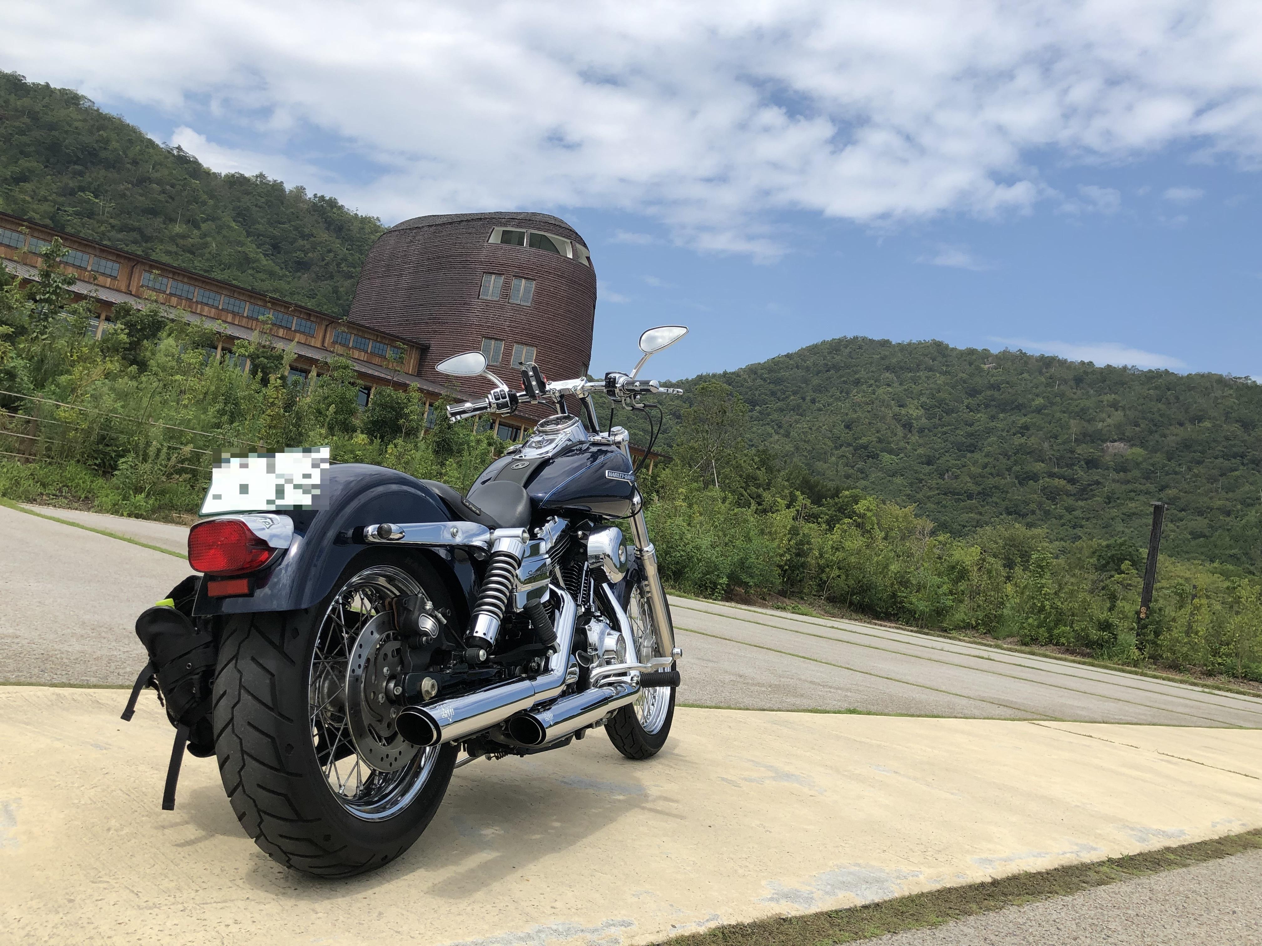 ハーレーとカワサキで行く近江八幡ツーリング ラ・コリーナ 駐車場