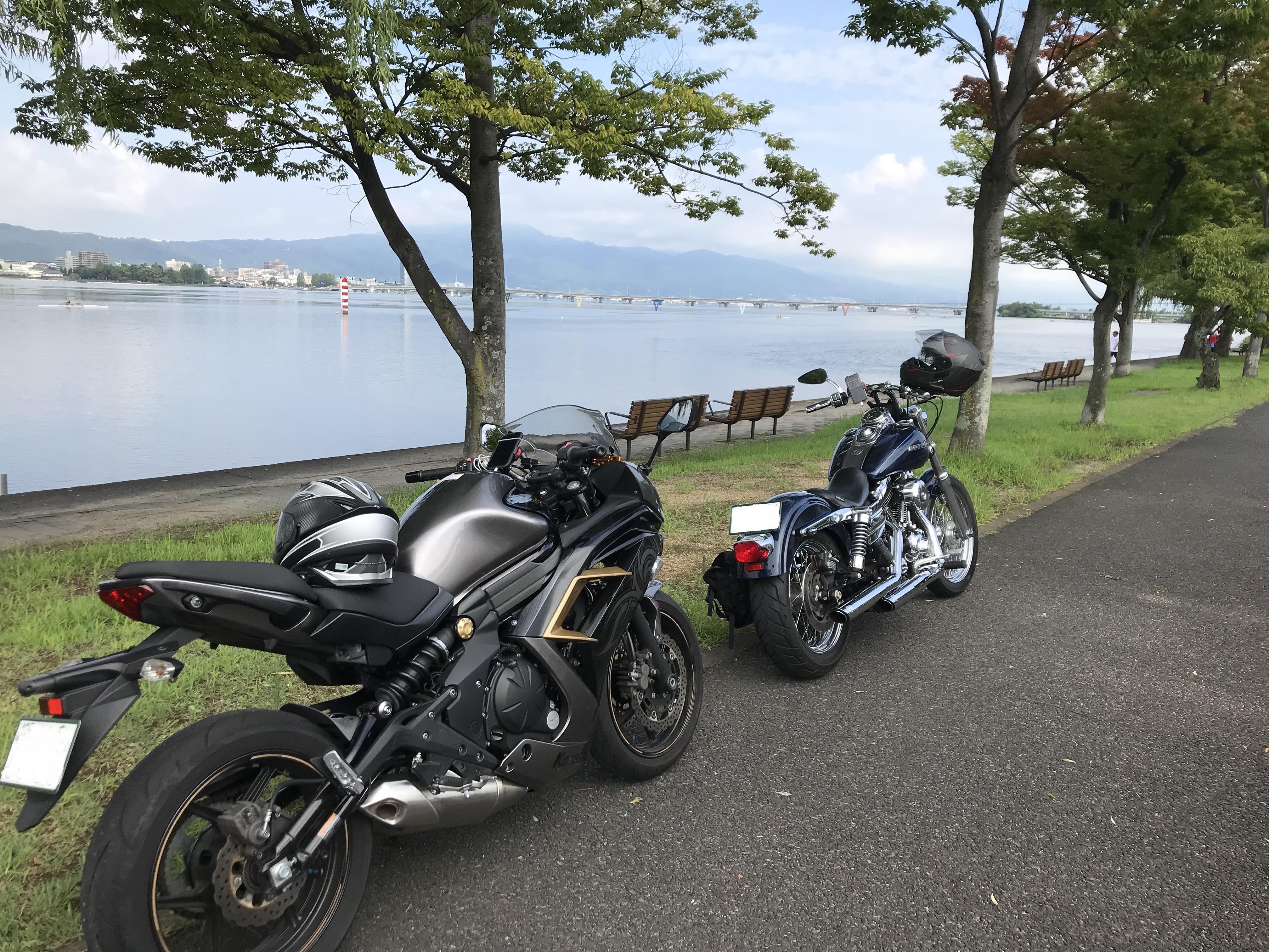 ハーレーとカワサキで行く近江八幡ツーリング 近江大橋