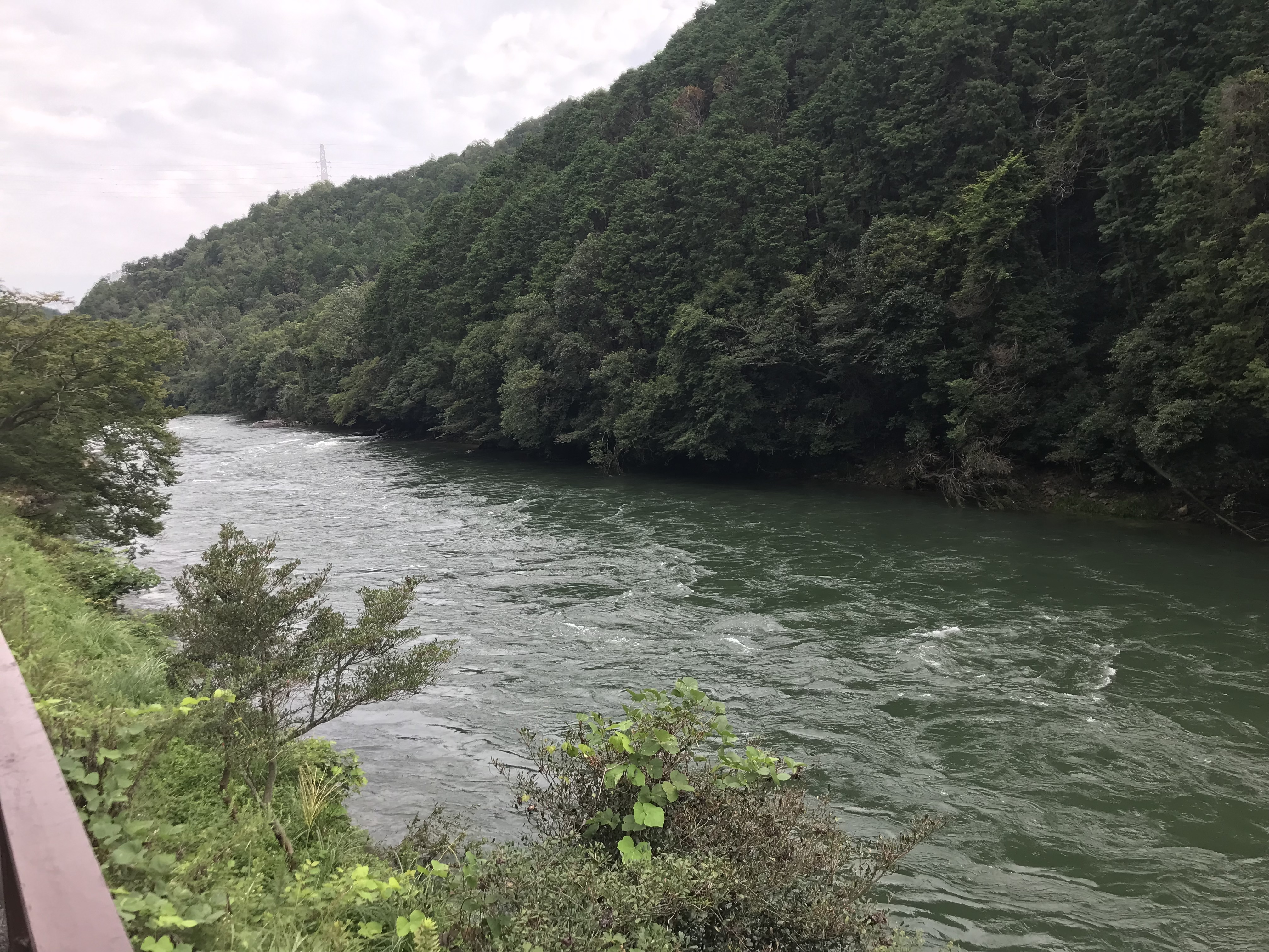 ハーレーとカワサキで行く近江八幡ツーリング 瀬田川