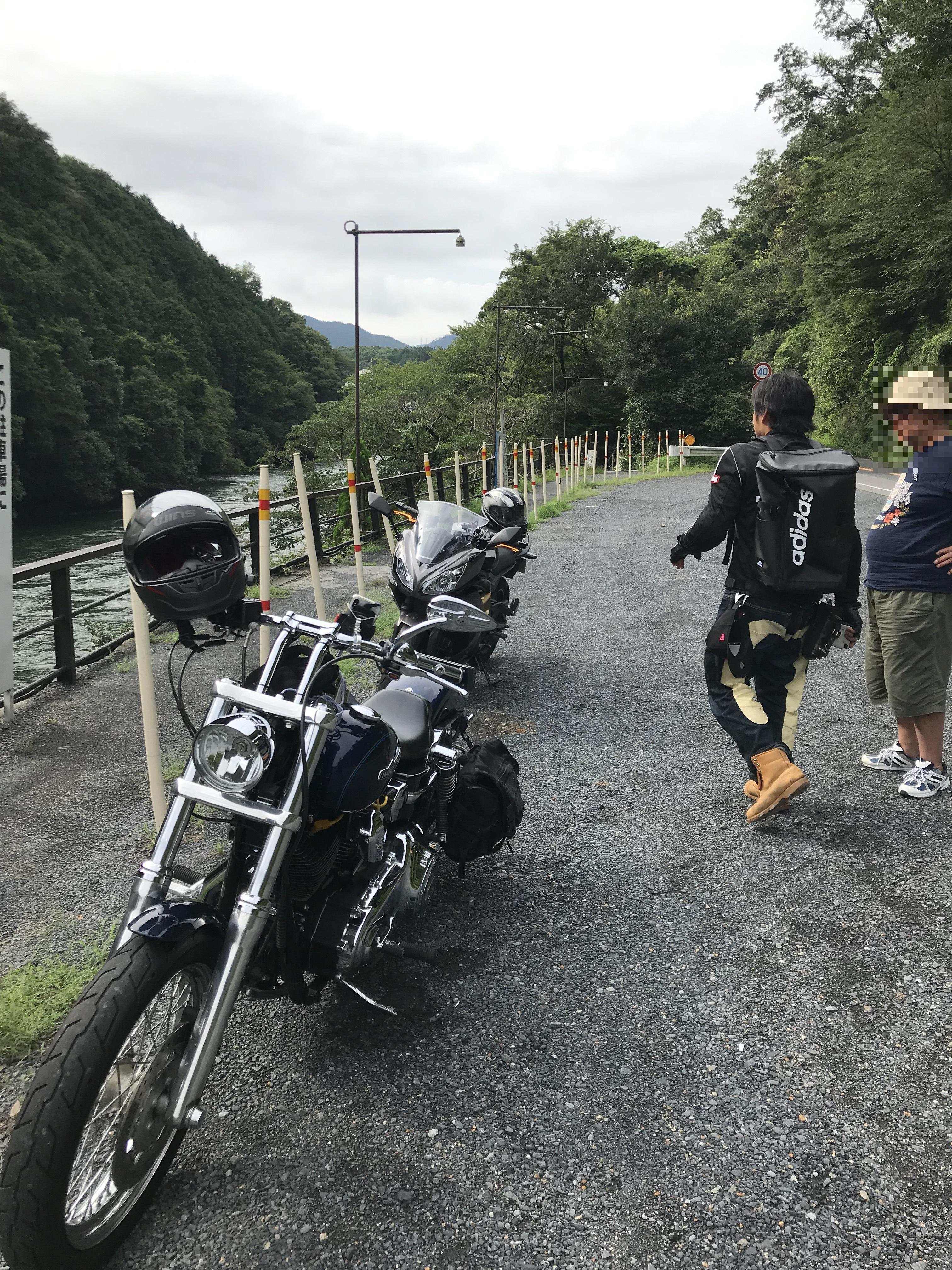 ハーレーとカワサキで行く近江八幡ツーリング 瀬田川でナンパされるシマゴン
