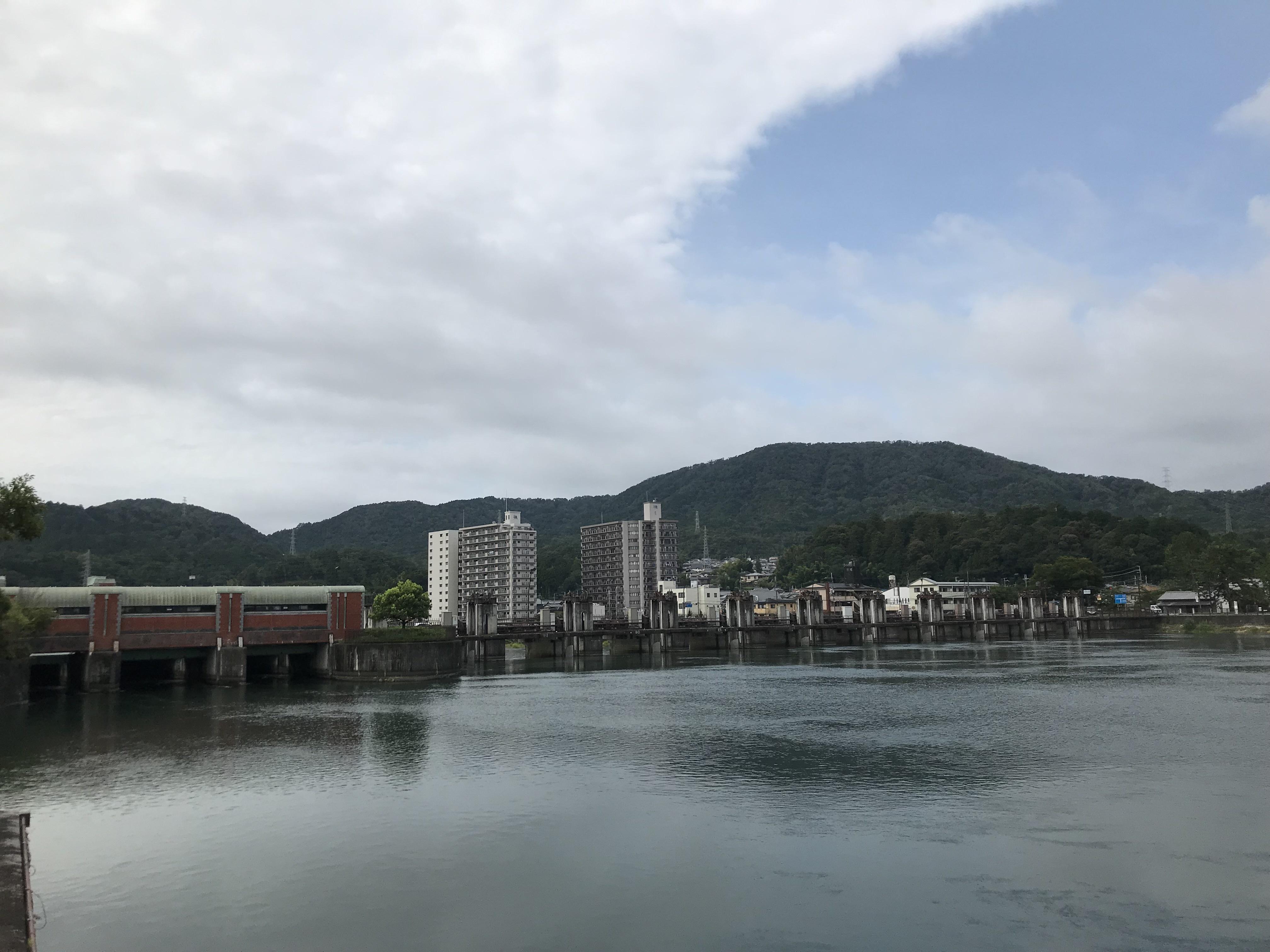 ハーレーとカワサキで行く近江八幡ツーリング 瀬田川洗堰