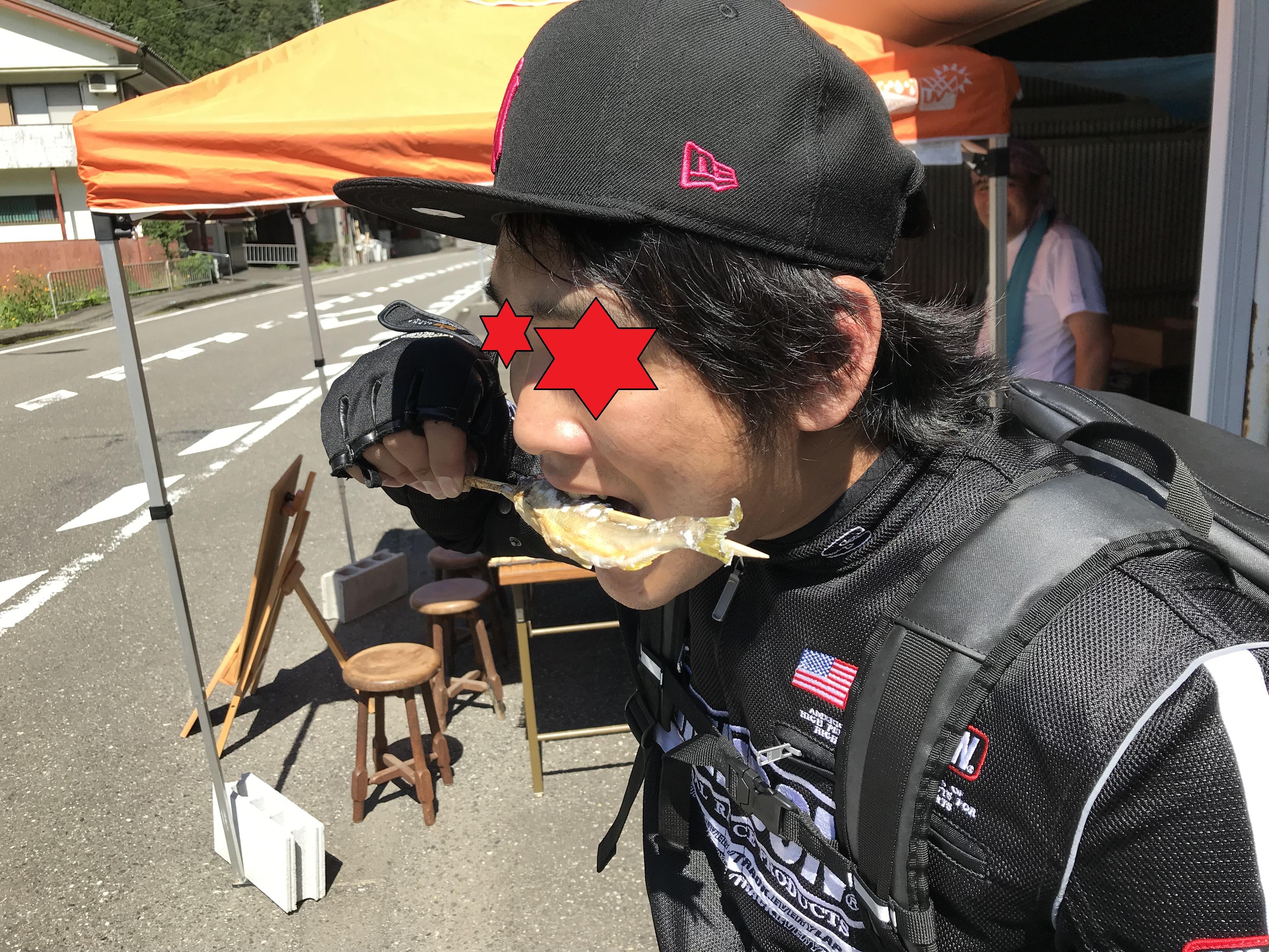 ぴーきち&ダイナ ハーレー で行く 十津川村 ツーリング 鮎の塩焼き